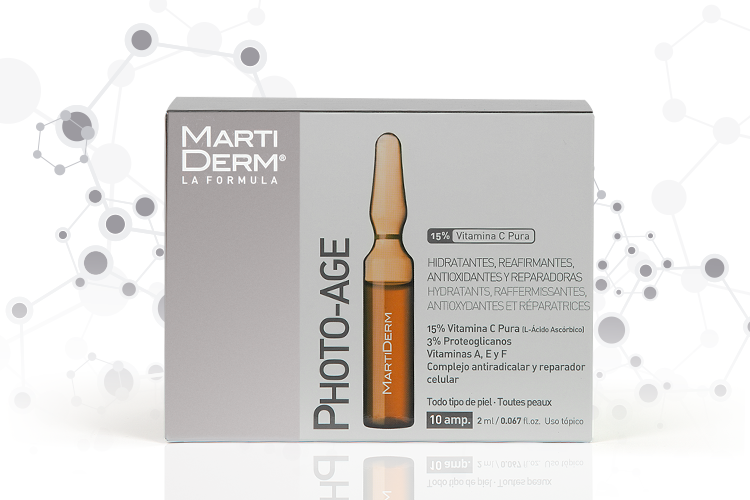 Las ampollas Photo-Age nos ayuda a eliminar los daños que día tras día producen las radiaciones solares y que se acumulan en la piel.